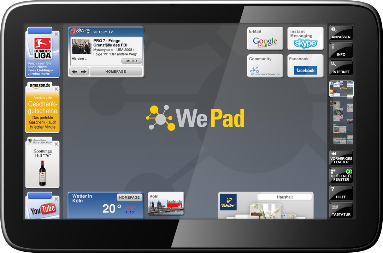WePad Aufsicht