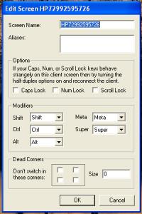 Synergy plus Screeneinstellung