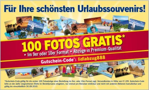 100 Fotos gratis: Abzüge in Premium-Qualität