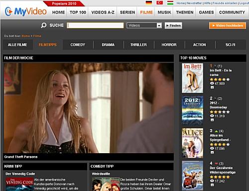 Kinofilme auf MyVideo.de