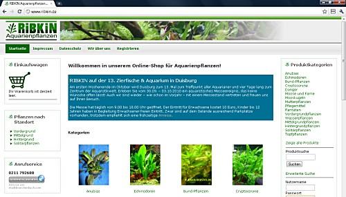 Screenshot der Website www.ribkin.de