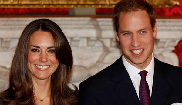Kate und William vor der Hochzeit des Jahres